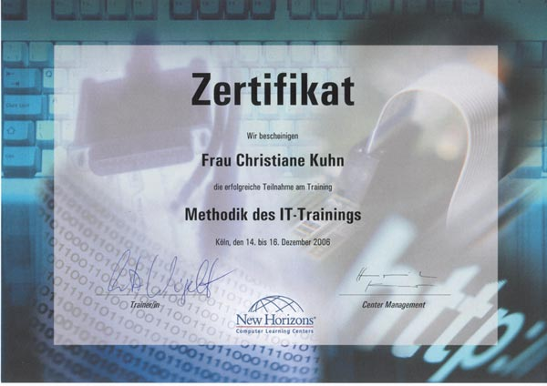 IT-Training Methodik