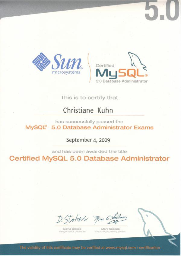 MySQL-DB-Certified