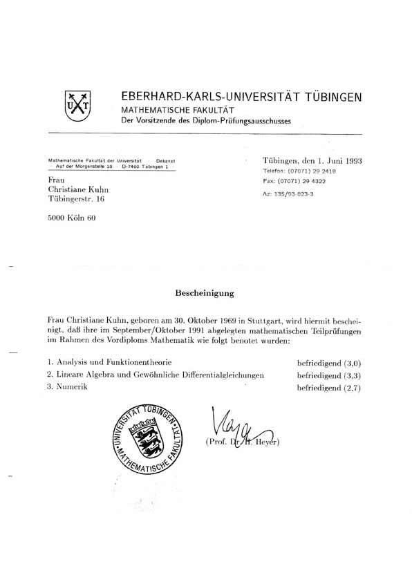 Eberhard-Karls-Universität Tübingen